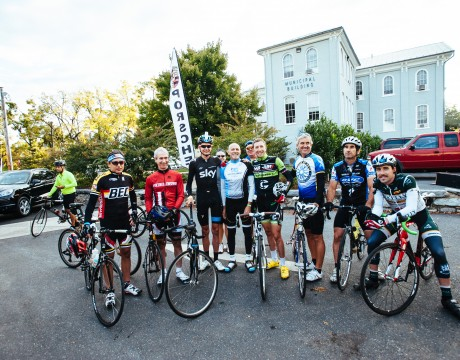 Robert Hess (Center in white and blue) is the Founder and President of the Prostate Cancer Awareness Project. In this photo he is seen with cancer survivors and professional cyclists at the Alpine Loop Gran Fondo.